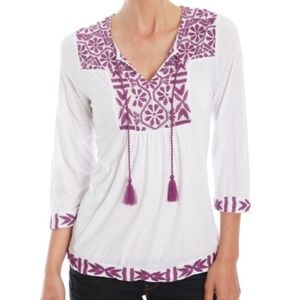 Lucky Brand Boho Tunic with Tassels